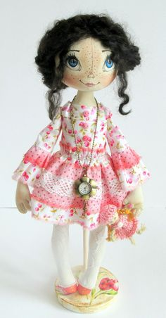Textile cloth Art doll for Danielle. Please by ArtDollsByKseniya