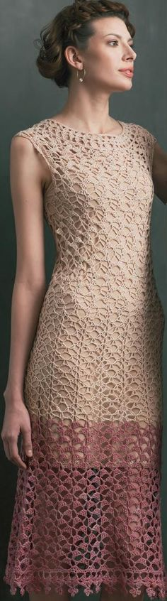long crochet dress from Crochet Me Shop by Laurinda Reddig