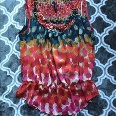 Colorful Anthropologie Top Colorful sleeveless top from Anthrolopologie Anthropologie Tops Tank Tops