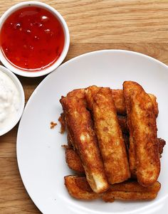 Halloumi Fries - I made these, totally worked and yummy too, smoked out the kitchen in the process though, oops!