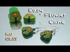 Polymer Clay easy flower cane tutorial - Tutorial murrina fiore semplice - YouTube by MoClay