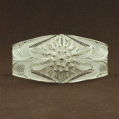 50% off Storewide Annual Sale ends 1.31.15 Sterling Silver Filigree Flower Cuff Bracelet
