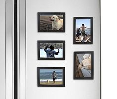 Fridgepic Wood Magnetic Photo Picture Frames, Black (4x6) (Pack of 5) | Jet.com