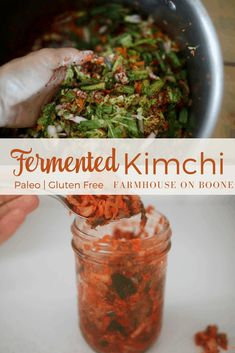 Homemade Kimchi // fermented recipes // farmhouse on boone Healthy Side Dishes, Side Dish Recipes, How To Make Homemade, Food To Make, Kimchi Recipe, Clean Eating, Healthy Eating, Recipe From Scratch, Fermented Foods