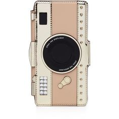 kate spade new york Camera Applique iPhone 7 Case (£112) ❤ liked on Polyvore featuring accessories, tech accessories, gold multi and kate spade