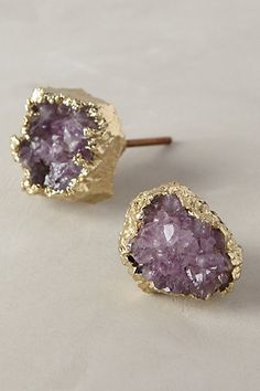 I don't like gold and it's not the right purple, but crap is it cool Crowned Quartz Knob - anthropologie.com