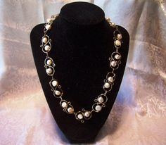 Slink Floating Pearl Necklace and Earrings by VictorianSundog