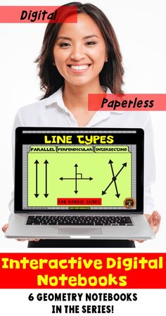 Go paperless with this digital resource for geometry for Google Drive®. The Google Slides cover the three types of lines:  parallel lines, perpendicular lines and intersecting lines.  Students practice drawing these types of angles as well as solving problems involving these plane figures. Includes answer key and scoring guide. Come check out the PREVIEW!