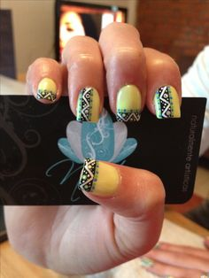 Nails art, Acrylic nails, tribal nails