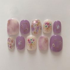 写真の説明はありません。 Korean Nail Art, Korean Nails, Gel Nail Art, Gel Nails, Spring Nails, Summer Nails, Kawaii Nail Art, Easter Nail Art, Japanese Nail Art