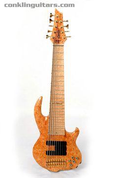 Custom Shop Burl Maple top Sidewinder 9 string bass