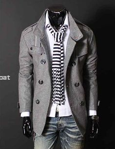 Men's pea/trenchcoat