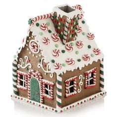Gingerbread Candy House - Gingerbread Candy-cane House - x x High Gingerbread House Icing, Homemade Gingerbread House, Cardboard Gingerbread House, Graham Cracker Gingerbread House, Gingerbread House Patterns, Cool Gingerbread Houses, Gingerbread House Parties, Christmas Gingerbread House, Gingerbread House Decorating Ideas