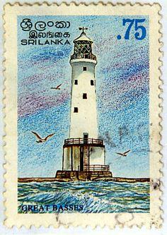 Sri-Lanka.  LIGHTHOUSES OF SRI-LANKA. GREAT BASSES.  Scott 1148 A516, Issued 1996 Jan 22, Lithogravured, Perf. 12, .75.