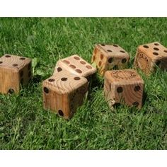 DIY Lawn Yahtzee... Easy to make with 4x4s. maybe for play around the camp ground.