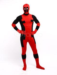 Halloween Deadpool Zentai Suit Lycra Spandex Superhero Full Bodysuit  Halloween  Zentai 343c65e3f