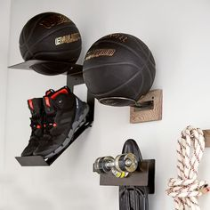 Our Skateboard Wall Display turns your board into super cool wall decor and safely stores it when you're not showing off your skills. Basketball Bedroom, Boy Sports Bedroom, Basketball Art, Orange Beach Alabama, Cool Wall Decor, Shoe Holders, Boys Bedroom Decor, Boy Bedrooms, Shoe Display