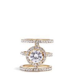 GUESS Maya Rhinestone Cage Ring ($34) ❤ liked on Polyvore featuring jewelry, rings, gold, gold tone jewelry, cage ring, sparkle jewelry, guess jewellery and gold tone rings