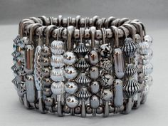 Stunning Silver Safety Pin Bracelet. From Hannah's Accessories' Etsy Store