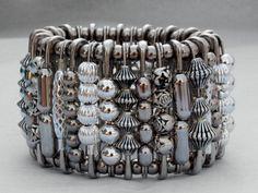 silver safety pin bracelet