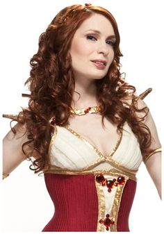 "Codex Wig.. wow, they really got the right model and make-up to ""play"" Felicia Day, hah"