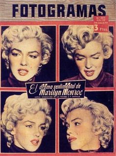 Marilyn Monroe - Fotogramas Magazine Cover [Spain] (5 October 1954)