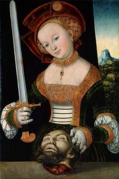 ❤ - LUCAS CRANACH (1472 - 1553) - Judith with the Head of Holofernes - 1526/30. Staatliche Museen, Kassel.