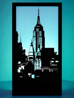 Event Prop Hire: Empire State Building Silhouette Panel