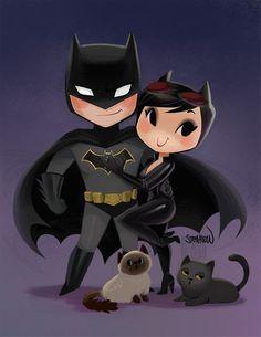 or Print Print will be hand signed by me! Print will come in clear a plastic baggie with a back board Catwoman Comic, Batman And Catwoman, Batman Comic Art, Batgirl, Batman Love, Batman Wonder Woman, Batman Robin, Batman Begins, Chibi