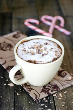Hot Toffee Chocolate. There are a ton of awesome hot chocolate recipes on here!