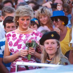 30 January 1988: Princess Diana on a two-hour visit to Wollongong, where wellwishers gathered behind the barricades in front of the IPAC and Town Hall to.