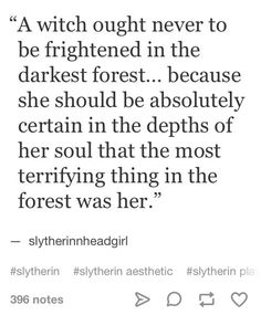 "This isn't from a Slytherin Girl, its from a book called ""I Shall Wear Midnight"" by Terry Pratchett and he is the greatest author ever."