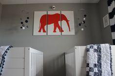 Elephant Wall Art in Twins #Nursery