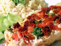 Filet de saumon en papillote (tomates et basilic)
