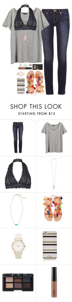 """Statement for First Day of School"" by teenageprep on Polyvore featuring Tory Burch, H&M, Free People, Kendra Scott, Elina Linardaki, Kate Spade, NARS Cosmetics, MAC Cosmetics and Lancôme"