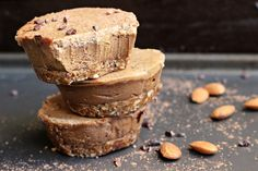 Rich and decadent raw chocolate cheesecake with a triple nut butter layer on top - dream come true