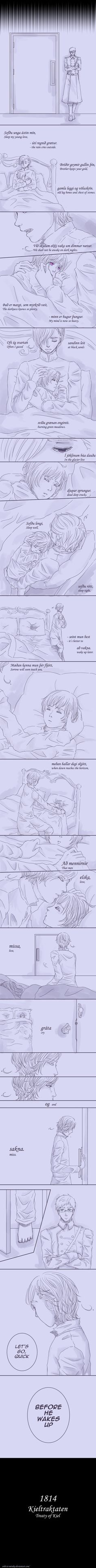 [APH Nordics] Sleep my young love by Enbi-to-Miruku.deviantart.com on @deviantART (i think my heart is dead)