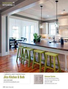 wood counter Charleston Home + Design Magazine - Winter 2013