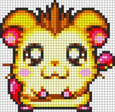 Jingle Ham Ham perler bead pattern... Could be used for Rainbow Loom