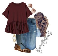 """""""Apostolic Fashions #1866"""" by apostolicfashions on Polyvore featuring Current/Elliott, Chloé, Shoes of Prey and Kate Spade #skirtoutfits"""