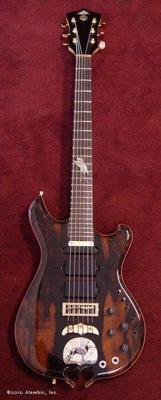 Alembic Cosmic Glow guitar. Such a beautiful guitar.