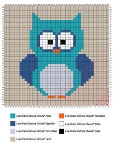 C2C Owl Afghan Graph