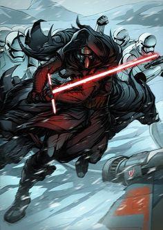 Kylo Ren - Star Wars: The Force Awakens - Alvaro Jimenz #fanart