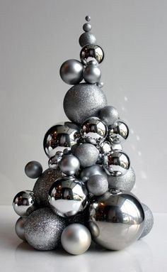 Classy Woman - habitualbliss: silver-blonde: DIY project by. - walter dorf - Classy Woman - habitualbliss: silver-blonde: DIY project by. Dream On, habitualbliss: silver-blonde: DIY project by. Silver Christmas Decorations, Modern Christmas Decor, Christmas Centerpieces, Silver Ornaments, Contemporary Christmas Decorations, Silver Baubles, Christmas Aesthetic, Christmas Balls, Christmas Tree Ornaments