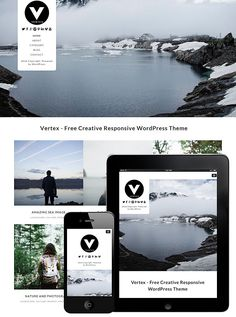 vertex responsive wordpress theme. #wordpress #theme #free