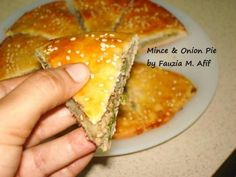 Mince & Onion Pie - Step by Step - Fauzia's Kitchen Fun Onion Pie, Kinds Of Pie, Pickled Garlic, Burger Toppings, Homemade Pickles, Tomato And Cheese, Ramadan Recipes, Minced Onion, How To Make Pizza