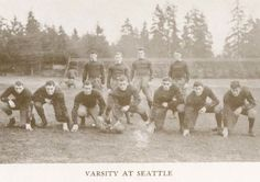 1912 UO varsity football.  From the 1914 Oregana (UO yearbook).  www.CampusAttic.com