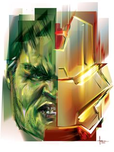 HULKBUSTER-AVENGERS : AGE OF ULTRON- Vector tribute by Orlando Arocena_on Behance