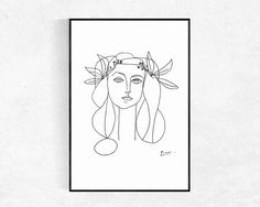 Picasso PRINTABLE ART Picasso Sketch Poster by InnerWildPrints