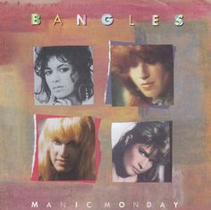 """I'm back in Music Monday mode here. I've missed talking music with you. Today's song is """"Manic Monday"""" by the Bangles. The Bangles, Susanna Hoffs, 80s Music, Good Music, 80s Songs, Music Covers, Album Covers, Columbia, Friday Im In Love"""